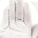 Montana Yogo Sapphire 3 Stone Mens Gents Sterling Silver Ring