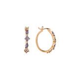 Montana Yogo Sapphire Hoop Earrings 14K Gold