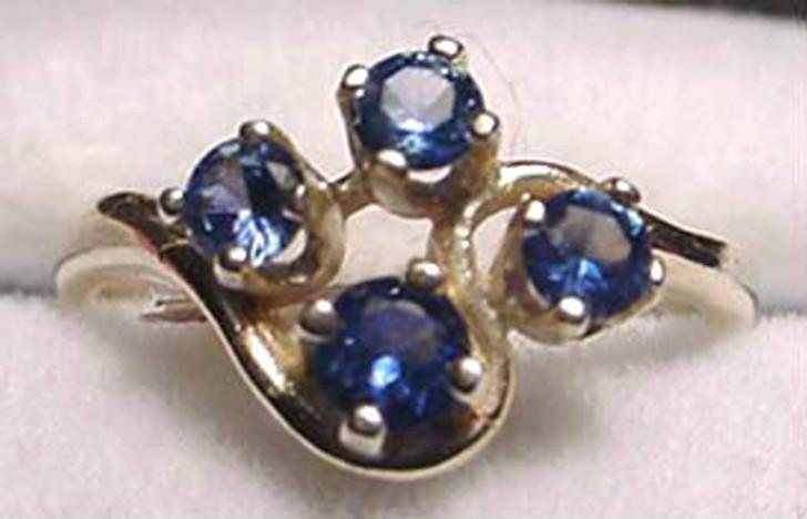 Montana Sapphire 4 Stone Fan Ring
