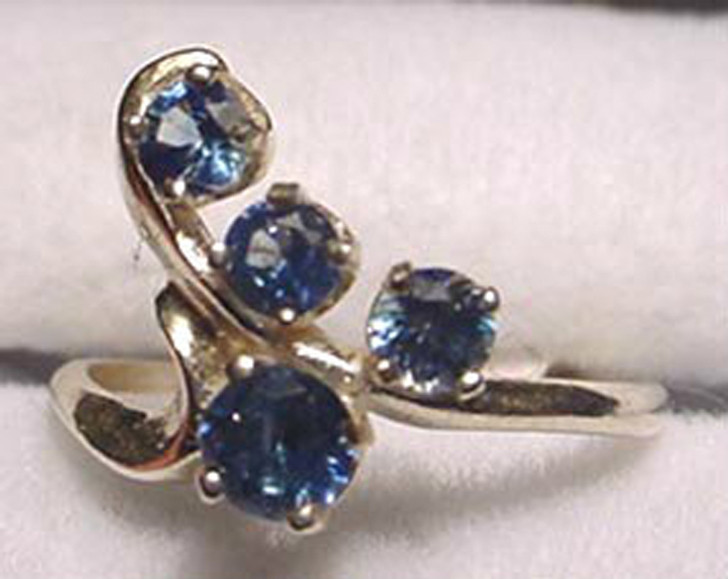 Montana Sapphire 4 Stone Y Ring