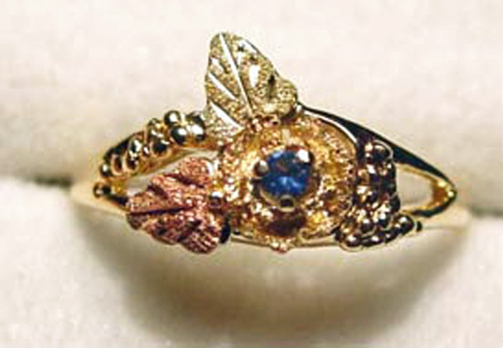 #25 - Montana Sapphire Black Hills Gold Ring
