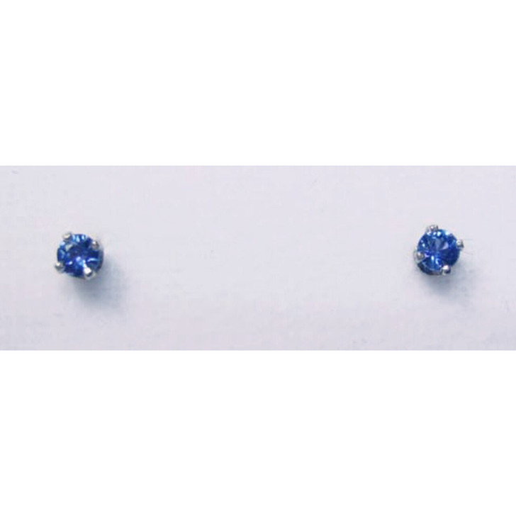 Montana Yogo sapphire round stud earrings 4 prong