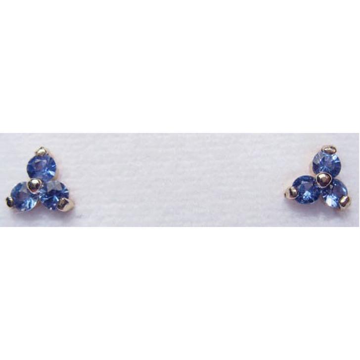 Montana Yogo sapphire tri earrings