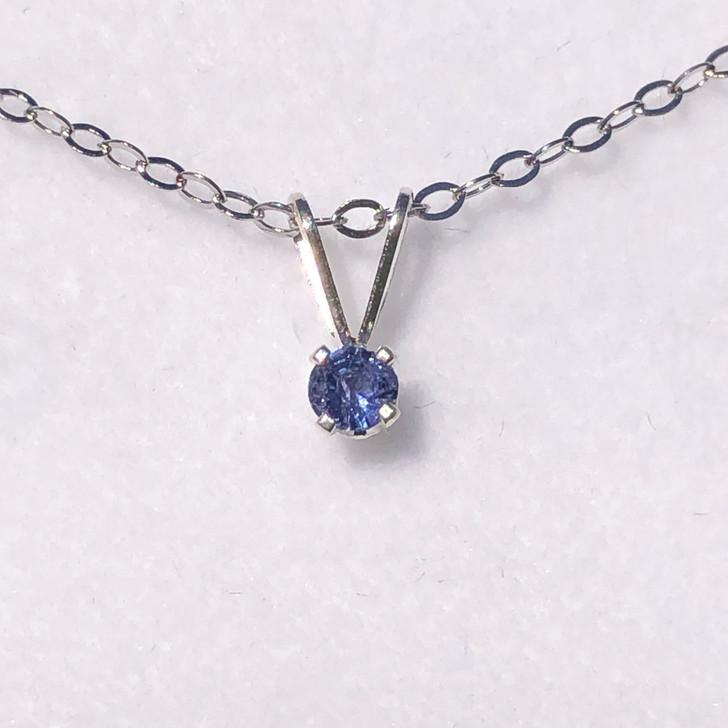 Montana Yogo sapphire round pendant silver