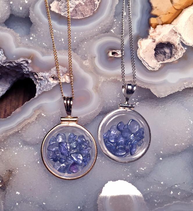 Montana Yogo Sapphire Locket Pendants