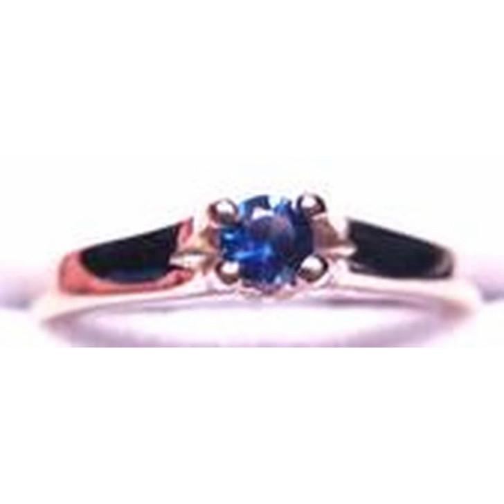 Montana Yogo Sapphire 3.5mm Tulip Ring