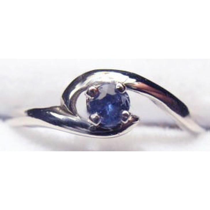 Montana Yogo Sapphire Crescent Ring