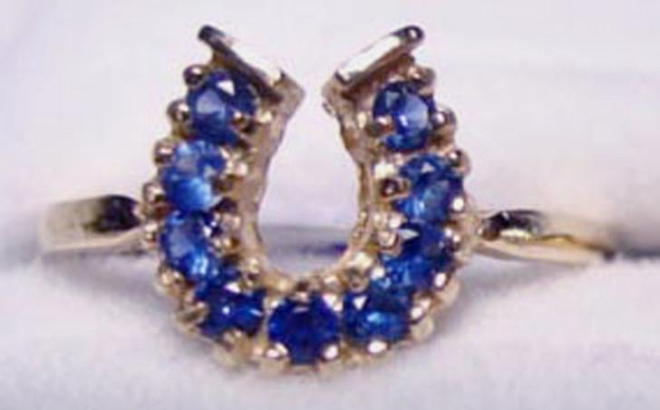 Montana Yogo Sapphire Horseshoe Ring