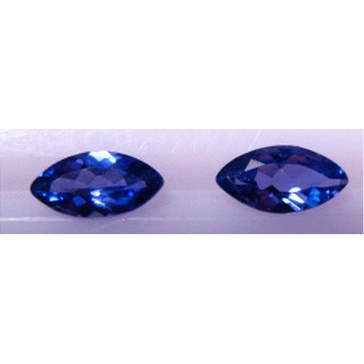 Montana Yogo Sapphire Marquise Set of Two .56 ct Total