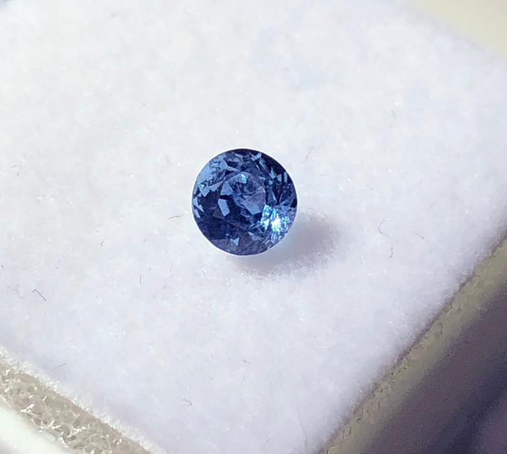 Montana Yogo Sapphire 3.6mm round .27 ct