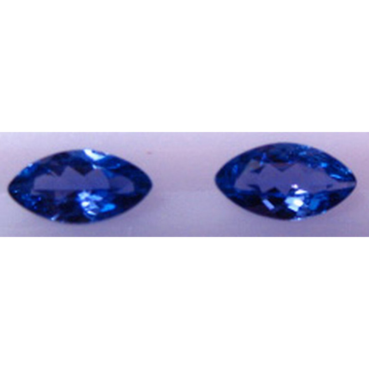 Montana Yogo Sapphire Marquise Set of Two .52 ct Total