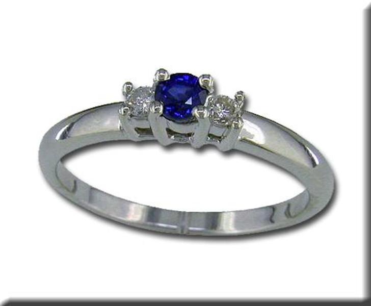 Montana Yogo Sappire & Diamond Ring