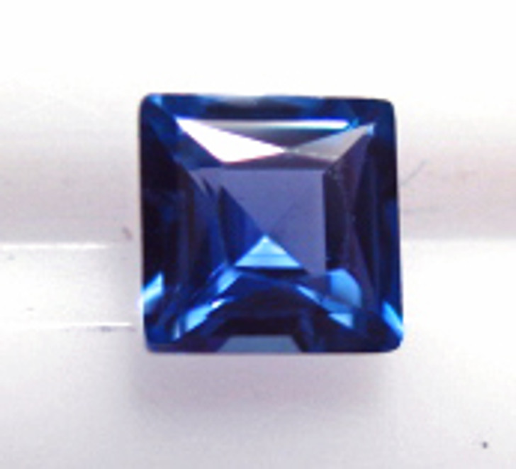 Montana Yogo Sapphire square princess cut .33ct 3.6mm