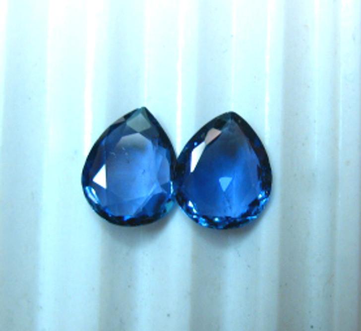 Montana Yogo Sapphire Loose Stones Pair of Pear or Teardrop shape 1.90 ct total
