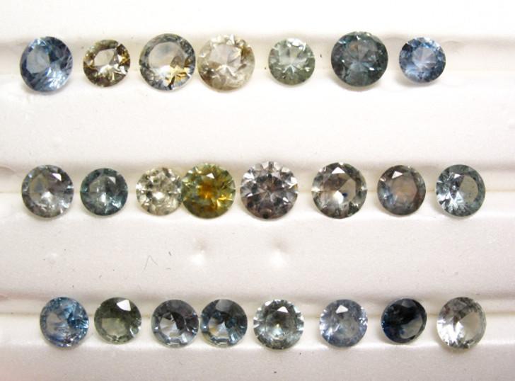 Montana Sapphire Unheated 23 Stone Parcel