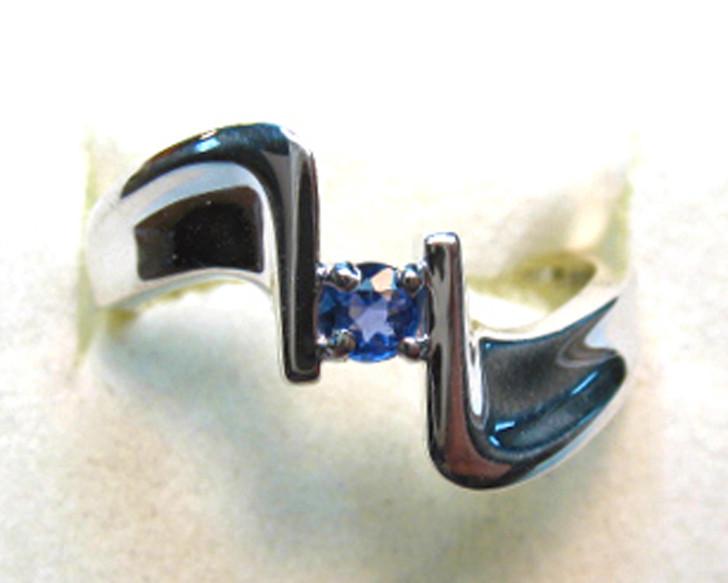 Montana Yogo Sapphire Modern Ring Sterling Silver