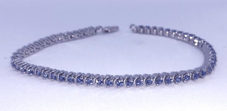 Montana Yogo Sapphire Sterling Silver Round Bracelet