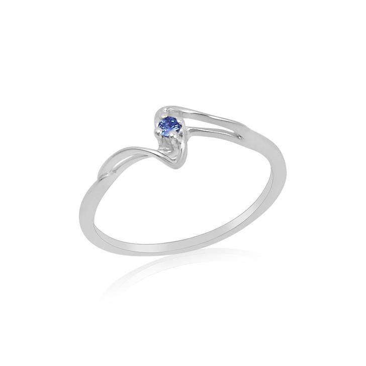 #95 - Montana Yogo Sapphire 2mm Fashion Sterling Silver Ring