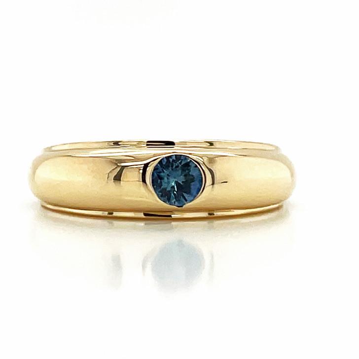Montana Sapphire Men's Gents Ring 10K Yellow Gold