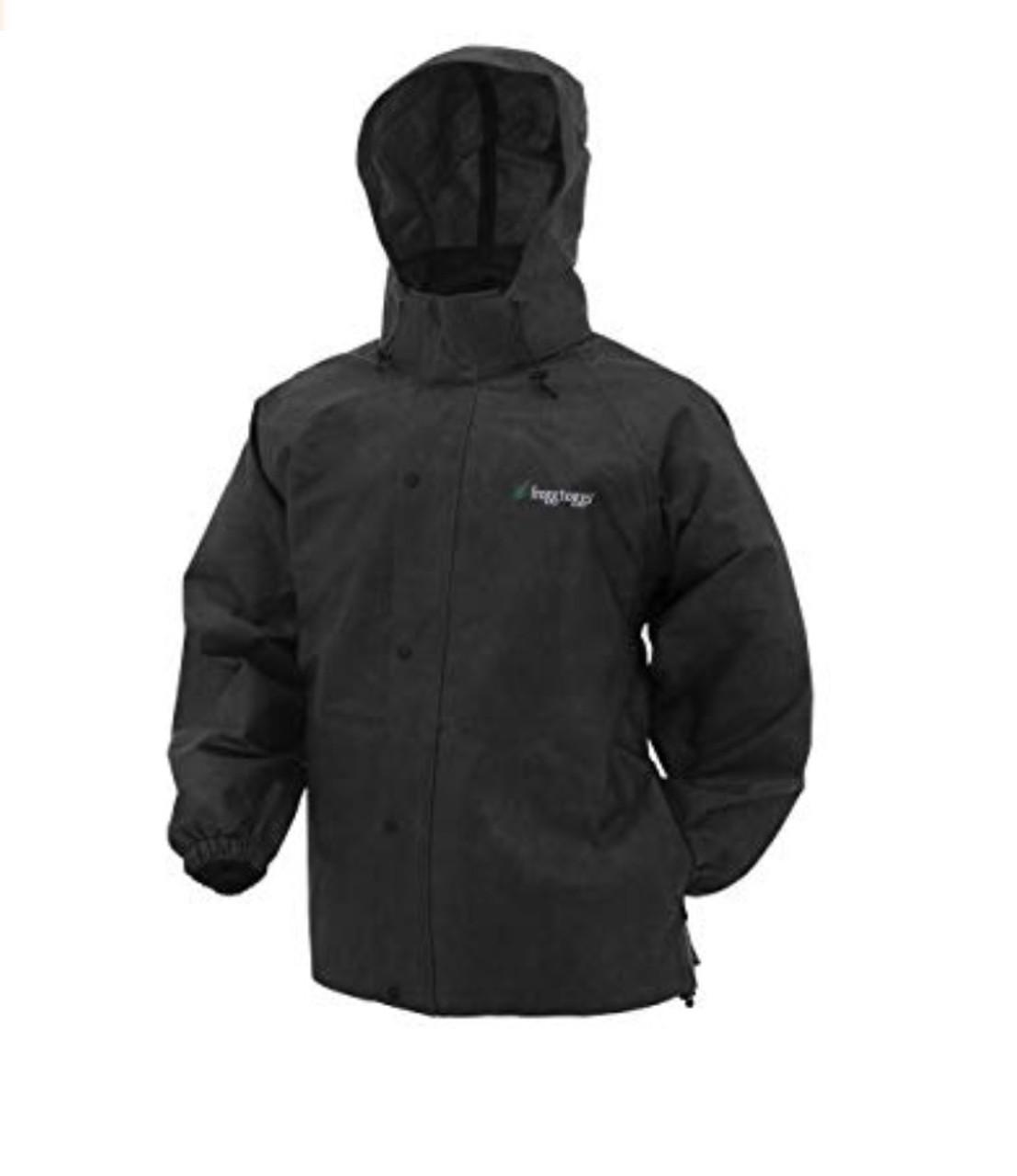 Frogg Toggs Men's Pro Action Rain Jacket X-Large - Black - PA63123-01XL