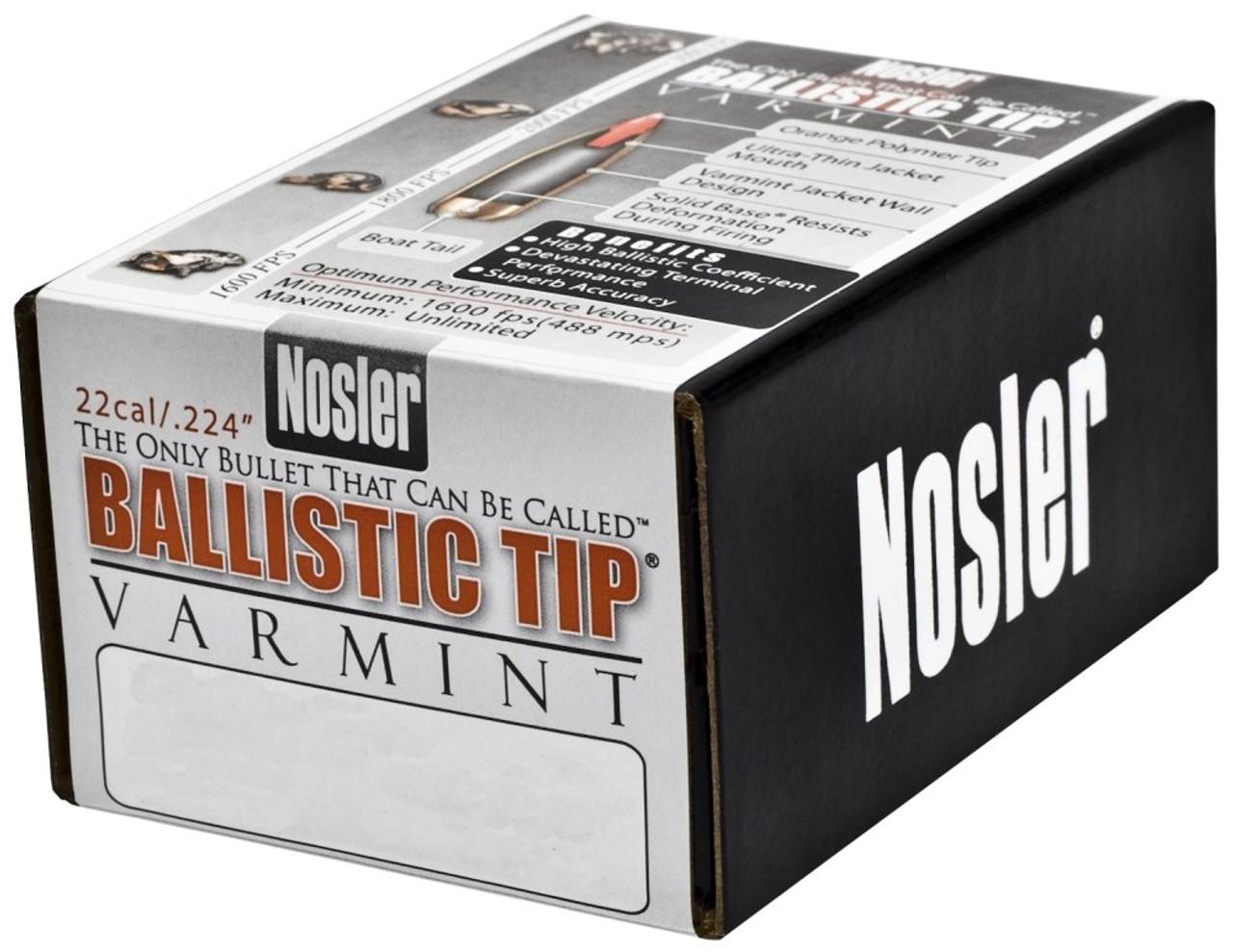 Nosler 39510 Ballistic Tip Varmint 22 Caliber .224 40 GR