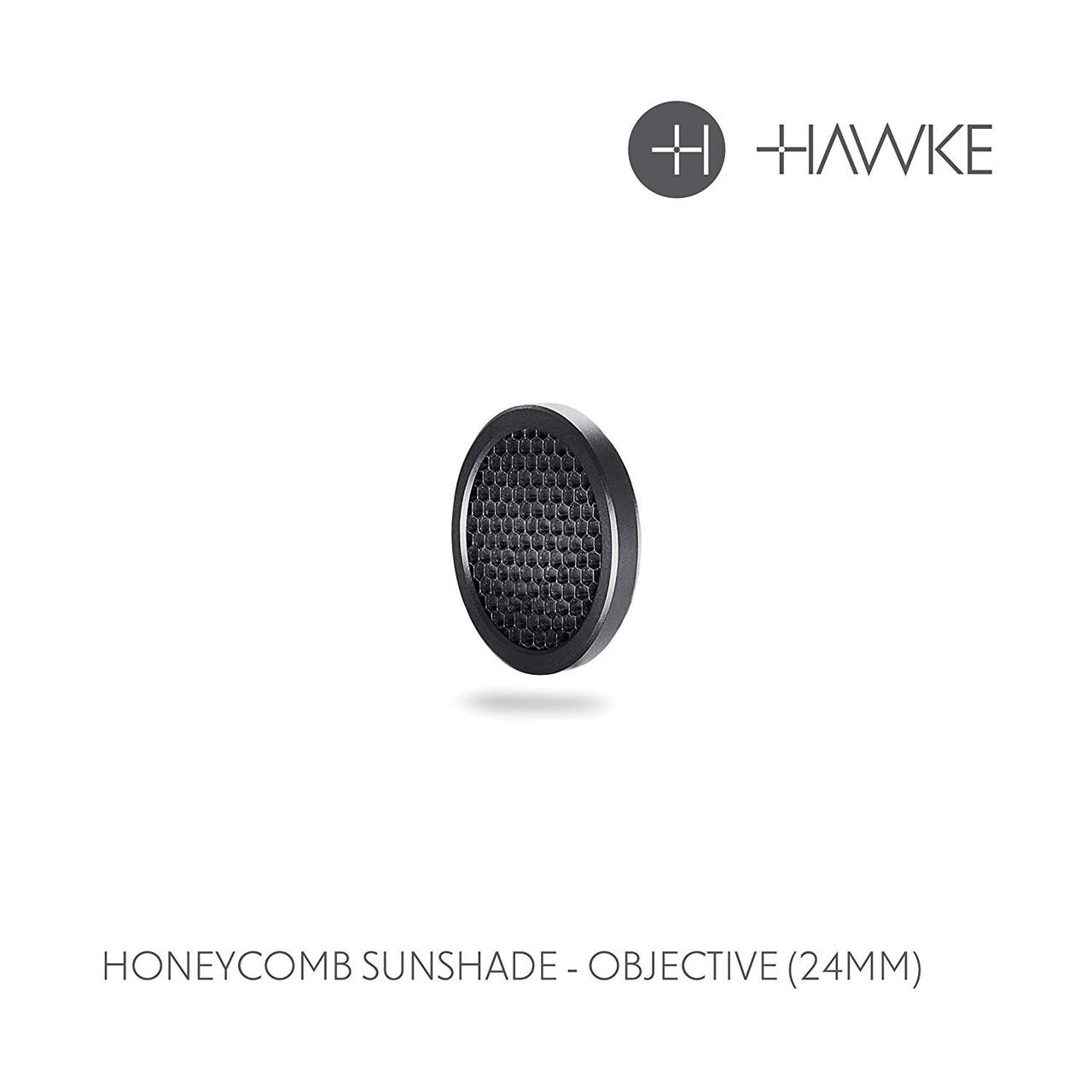 Hawke Honeycomb Rifle Scope Sunshade, 24mm Obj - 62100
