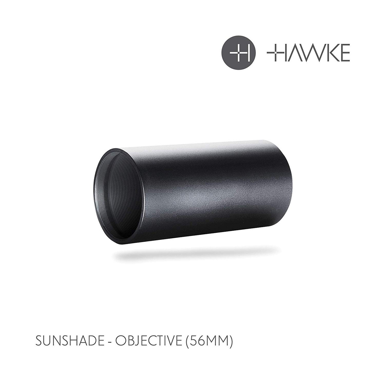 Hawke Rifle Scope Sunshade, Black, 56mm Obj 62012