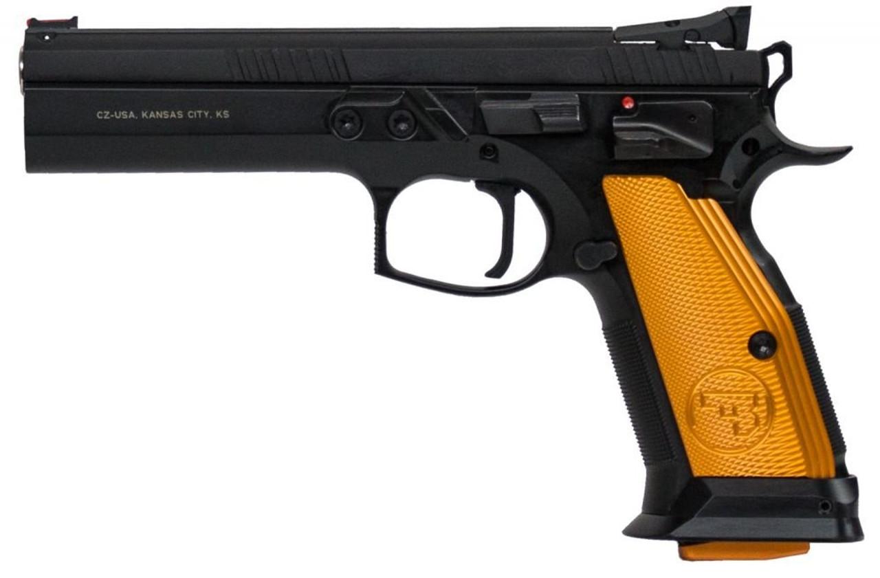 "CZ 75 Tactical Sport 9 MM 91261 NIB Orange 5.4""BBL"