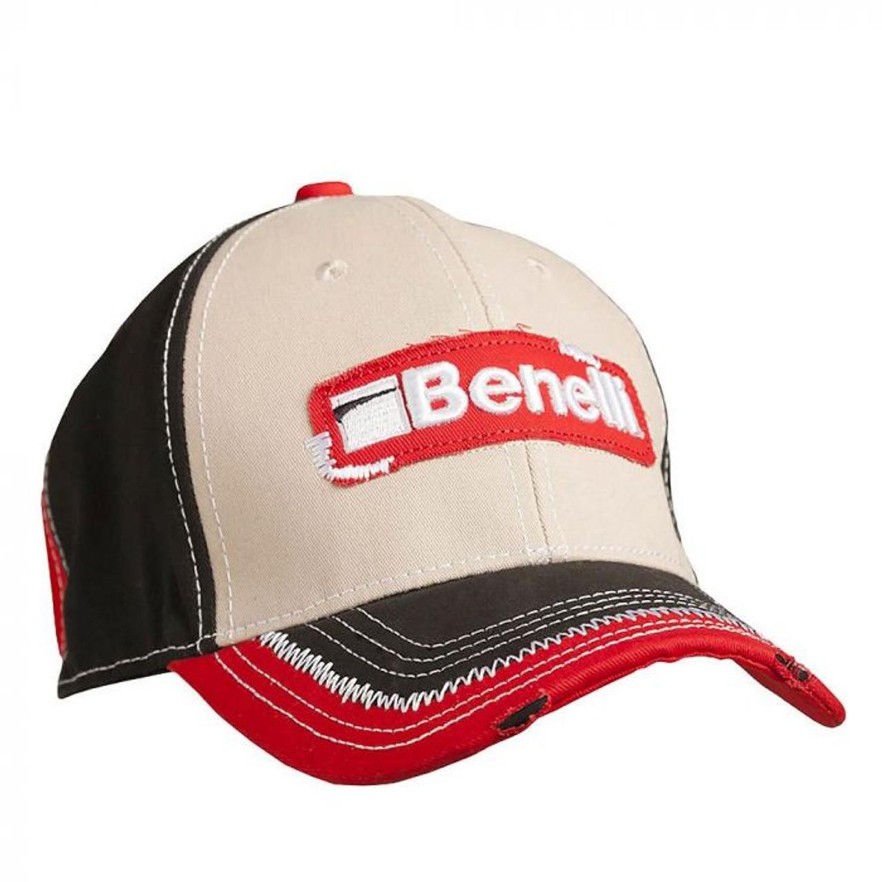 Benelli 3 Tone Hat Red Black and Khaki Distressed M/L 93202