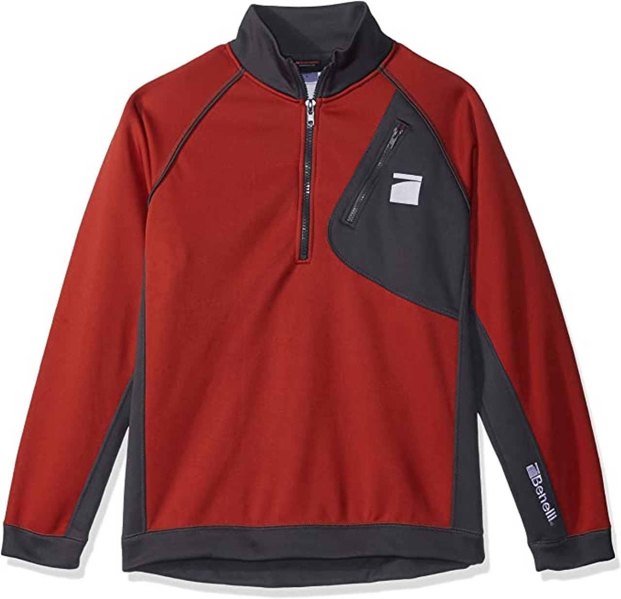 Benelli 1/4 Zip Performance Pullover Red Charcoal Large 93302L