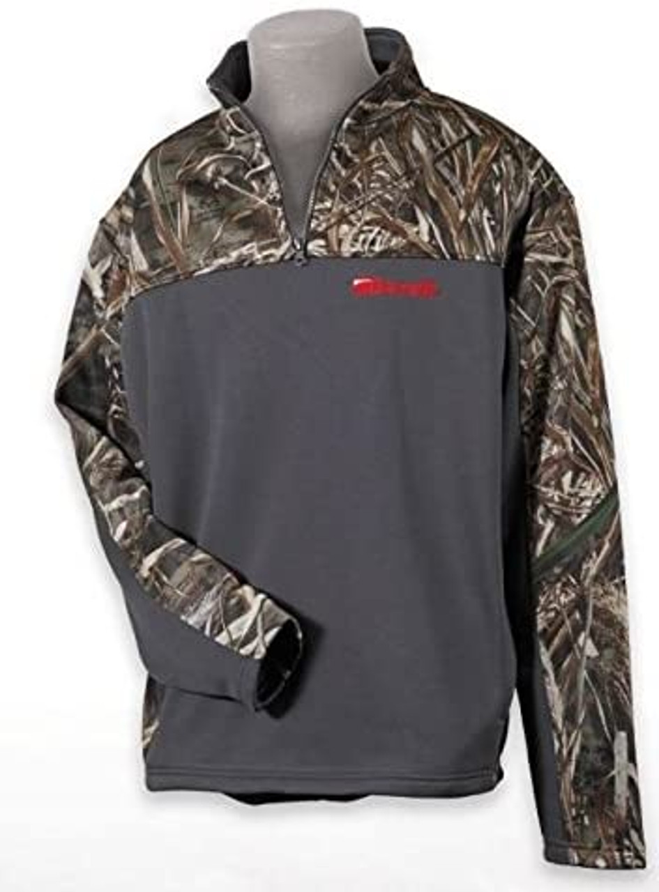 Benelli 1/4 Zip Pullover Charcoal and Camo XX Large