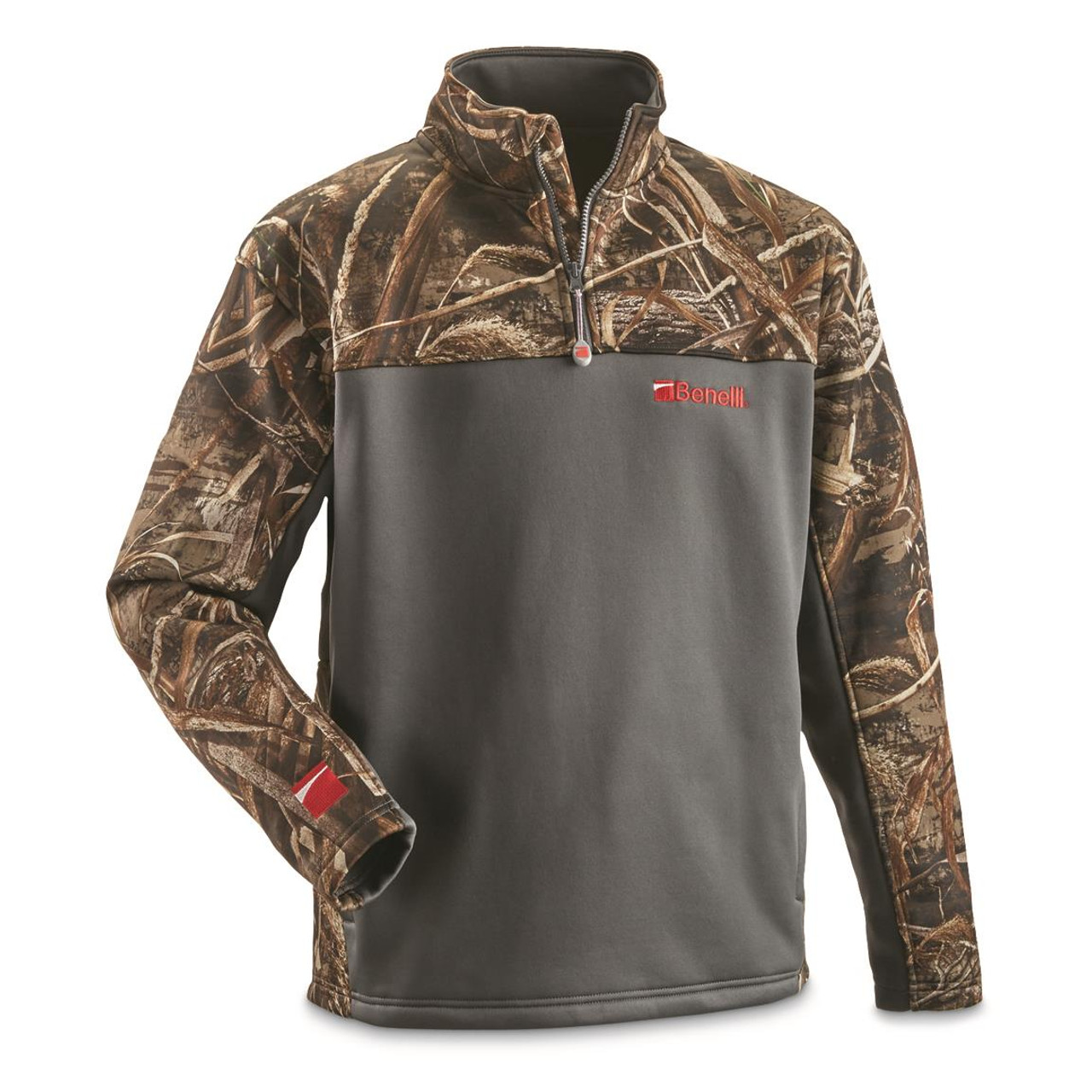 Benelli 1/4 Zip Pullover Charcoal and Camo 3X Large