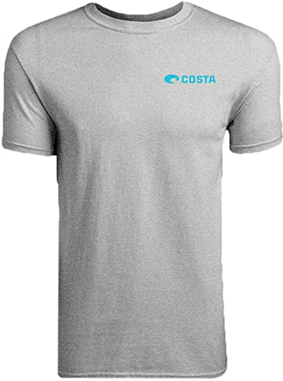 Costa Del Mar Topwater Short Sleeve T Shirt Gray Heather Large TOP 02HG