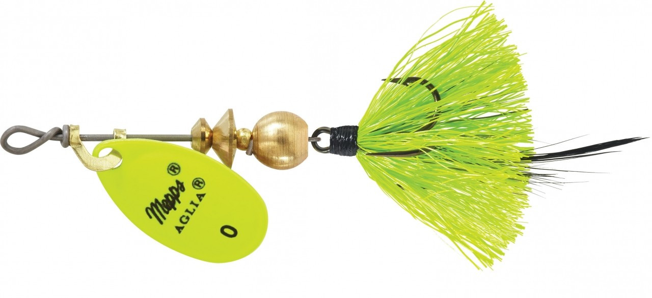 Mepps Dressed Treble 1/12 Ounce Size 0 Hot Chartreuse - B0ST HC-CH