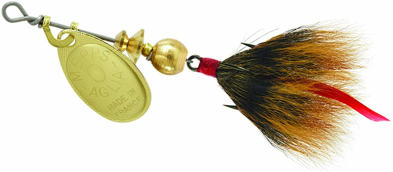 Mepps Dressed Treble 1/12 Ounce Size 0 Gold Brown - B0ST G-BR