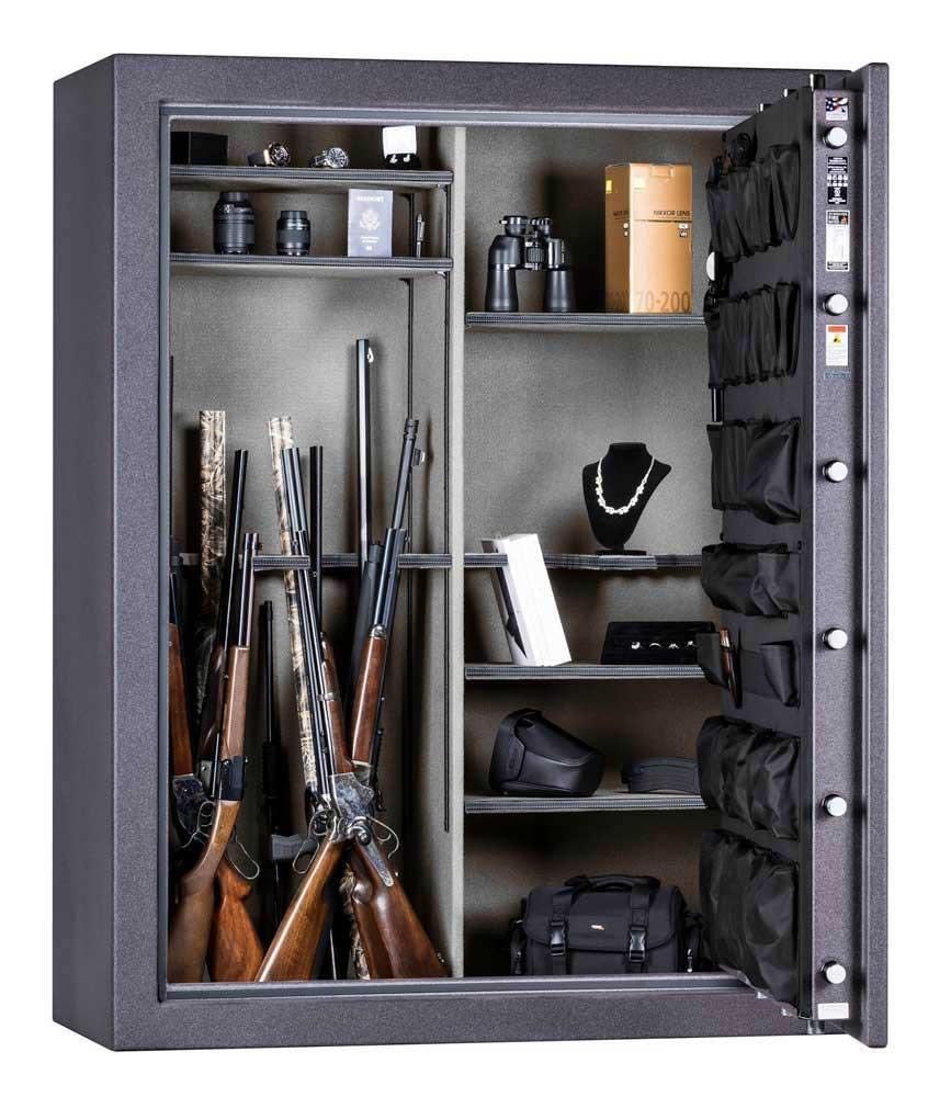 "Rhino CD7256X | 72""H x 56""W x 27""D | 76 Long Gun Safe | 80 Min"