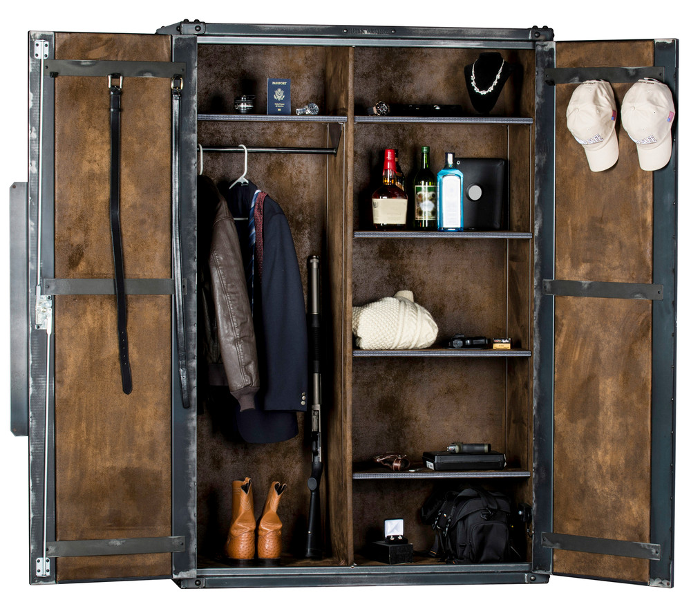 """Ironworks Armoire   72""""H x 48""""W x 24""""D"""