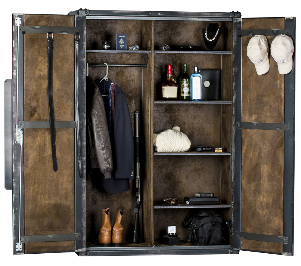 "Ironworks Armoire | 72""H x 48""W x 24""D"