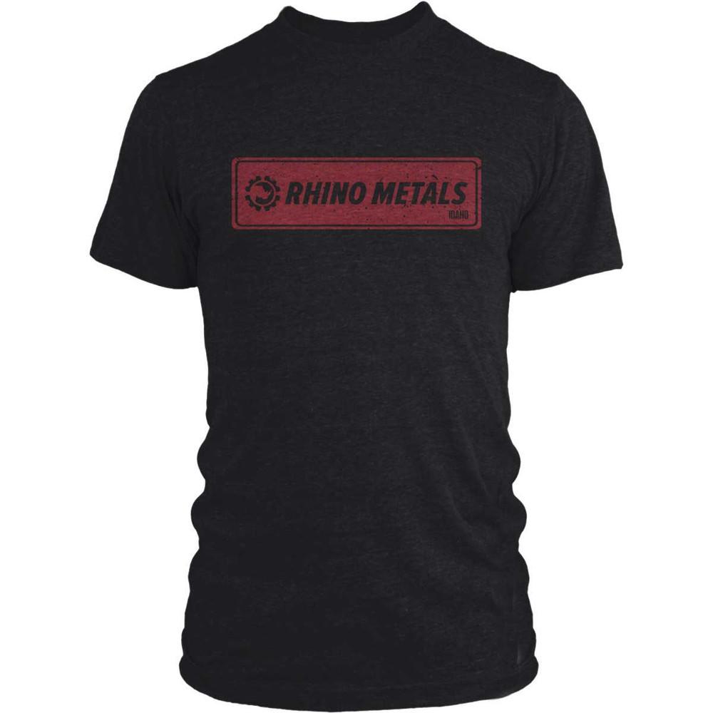 RHINO METALS VINTAGE T-SHIRT - RHINO RED LOGO