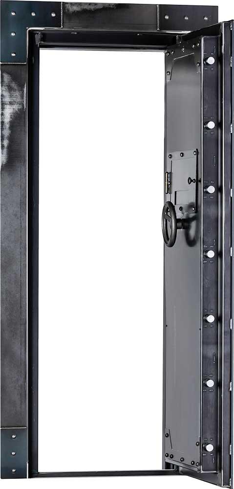 out-swing vault door open