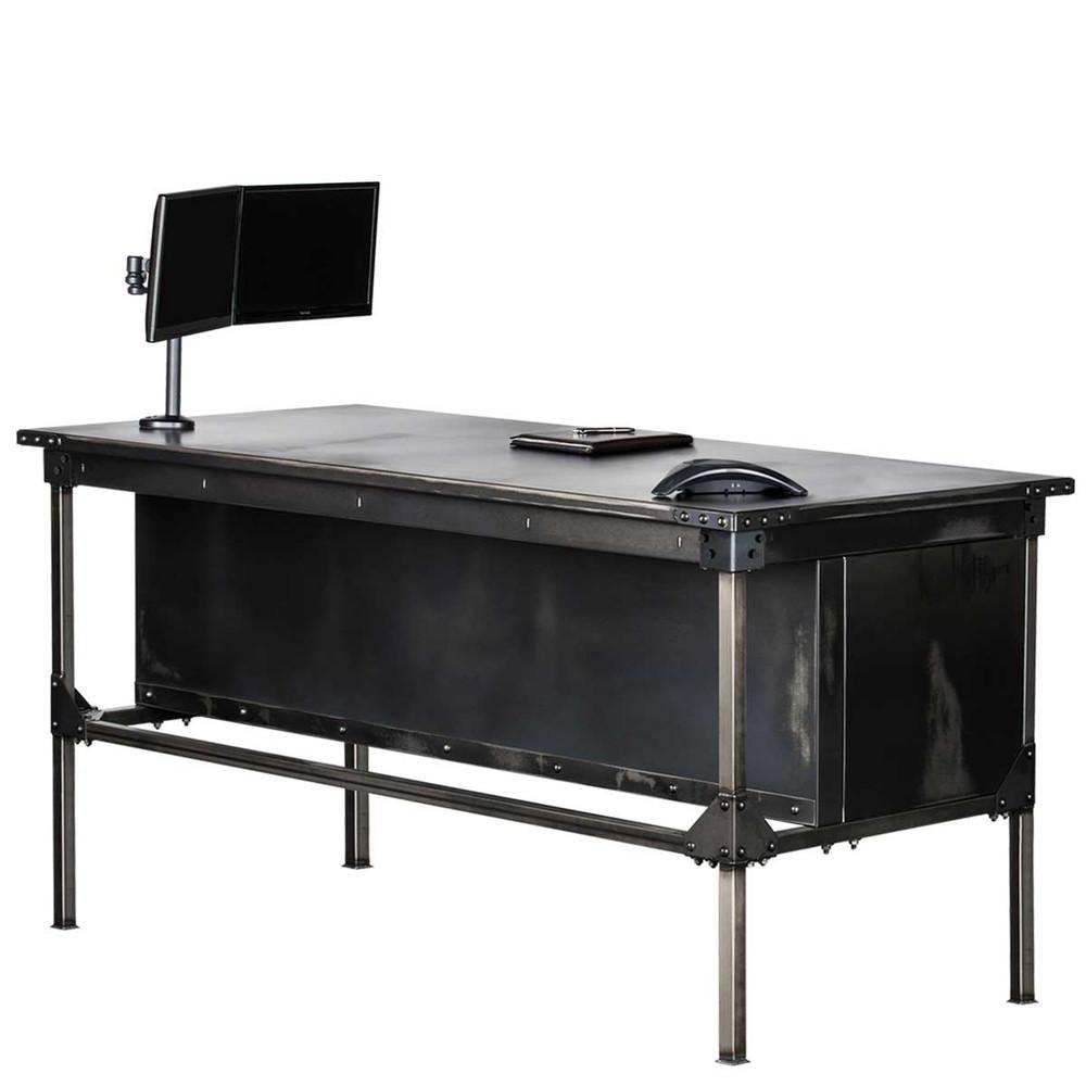 "Ironworks Executive Desk- 42"""