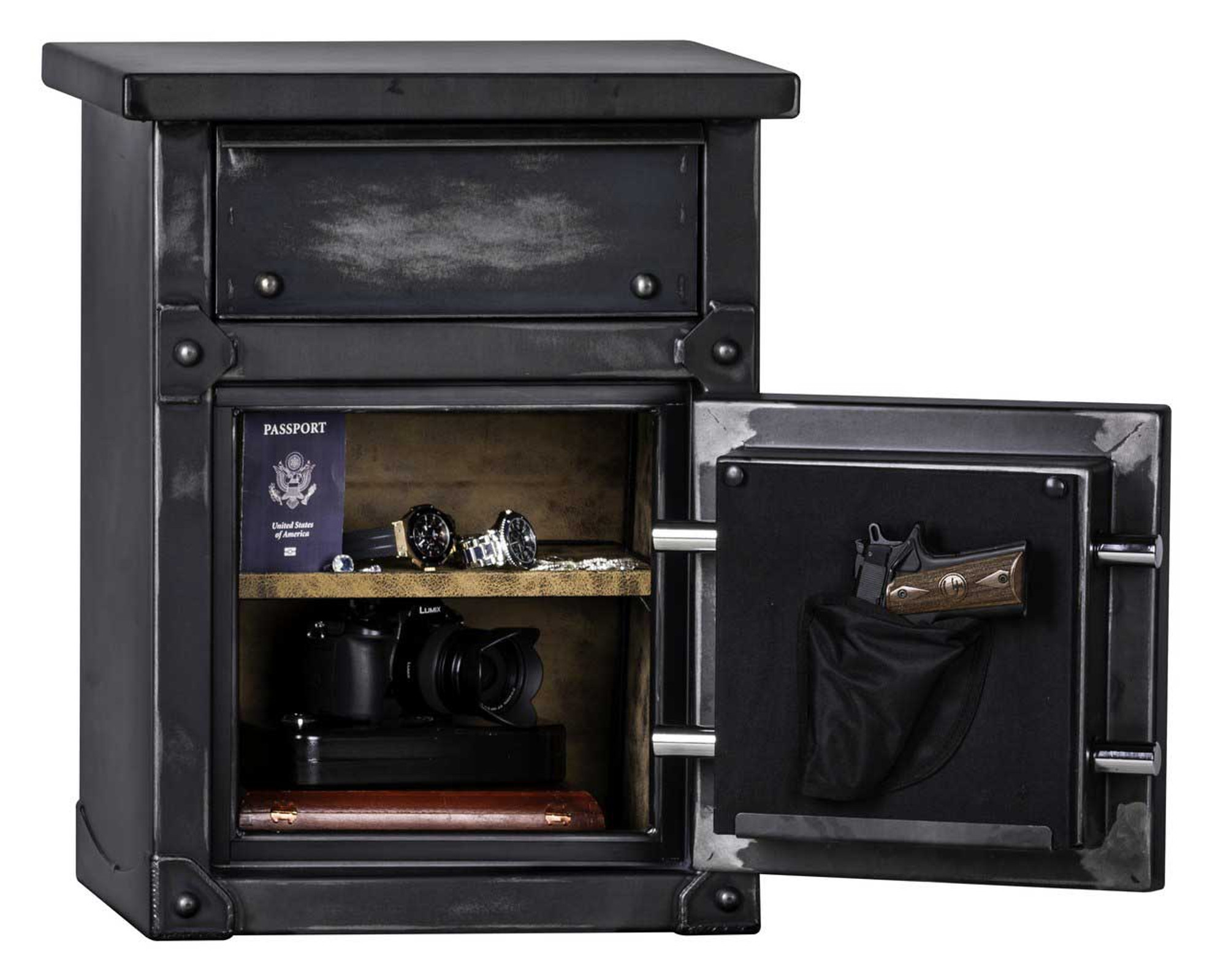 Lns2618 Longhorn Security Safe End Table Nightstand