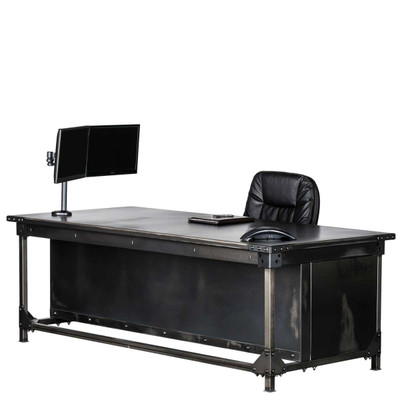 Ironworks Executive Desk- 30""