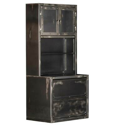 Ironworks Hutch and Lateral File