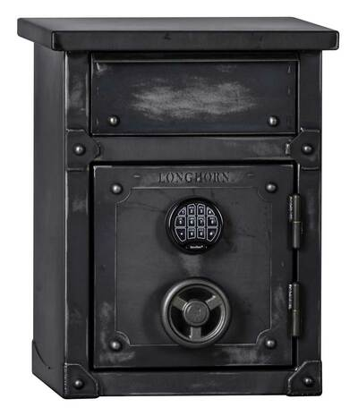 LNS2618 | Longhorn Security Safe / End Table / Nightstand