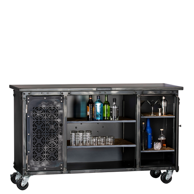 "Ironworks Bar - Custom | 43""H x 72""W x 23""D"
