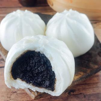 Black Sesame Steamed Buns (6pcs) 黑芝麻包