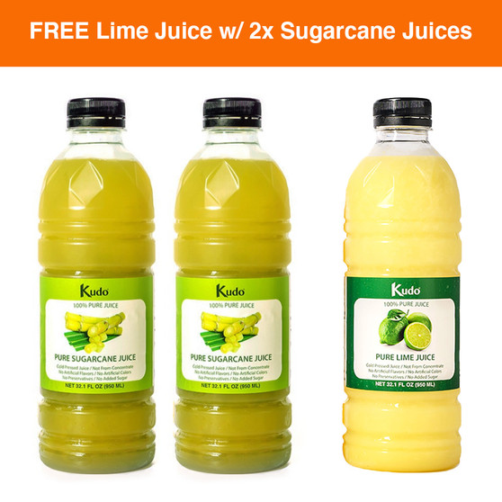 Kudo 100% Pure Sugarcane and Lime Juice