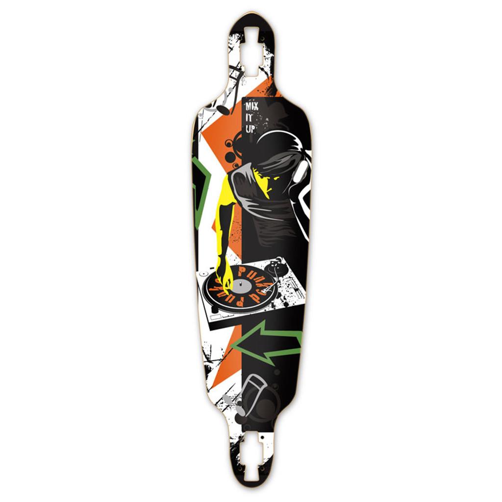 Drop Through DJ Mixitup Longboard Deck