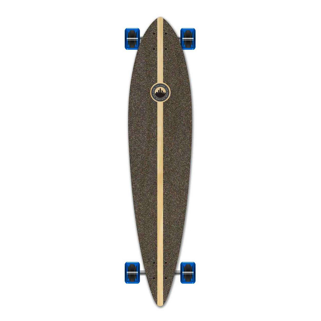 Pintail Blank Longboard Complete - Stained Blue